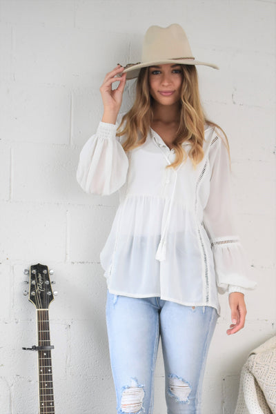 Camille Shirt Winter White ROLLING STONE