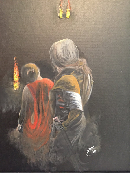 Turning Away(Original oil painting)