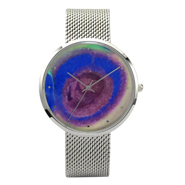 Centers Beauty (Watch/Stainless Steel Band) - JenniPaintings-FoundTreasures