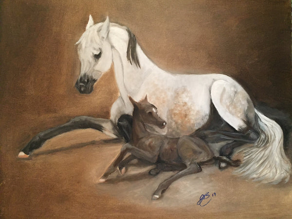 Persia and Mist(Original oil Painting)