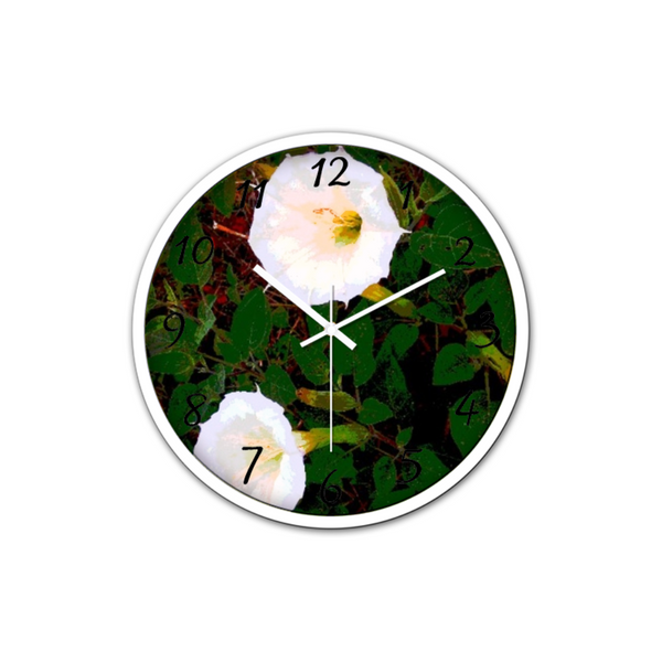 White Trumpets(Non-Ticking Silent Wall Clocks)
