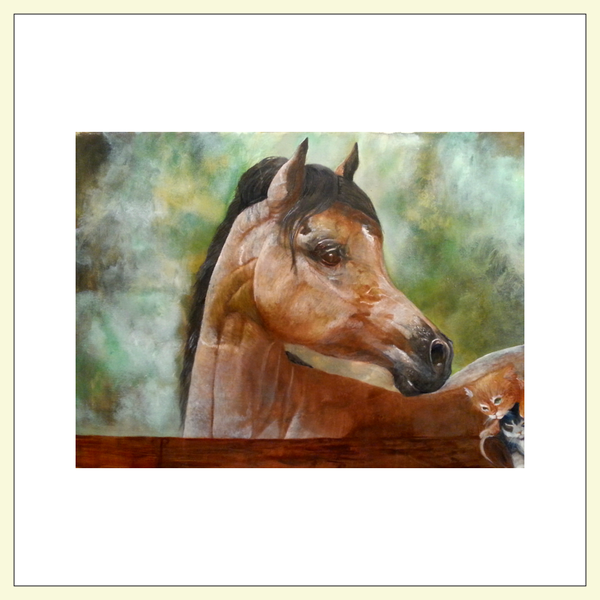 Flat Cards(Horse Collection) - JenniPaintings-FoundTreasures
