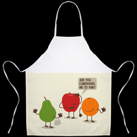 Aprons(Funny Fruit) - JenniPaintings-FoundTreasures
