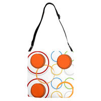Adjustable Strap Totes(Circles) - JenniPaintings-FoundTreasures
