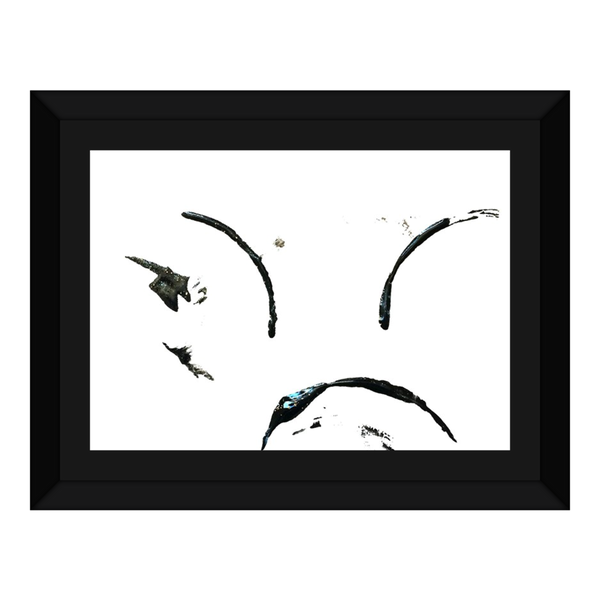 Framed Canvas Print(The Frown) - JenniPaintings-FoundTreasures