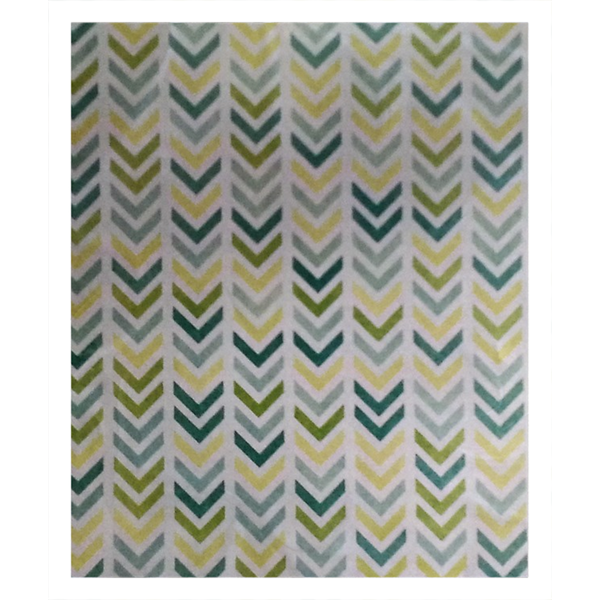 Chevron Design(Fleece Sherpa Blanket) - JenniPaintings-FoundTreasures