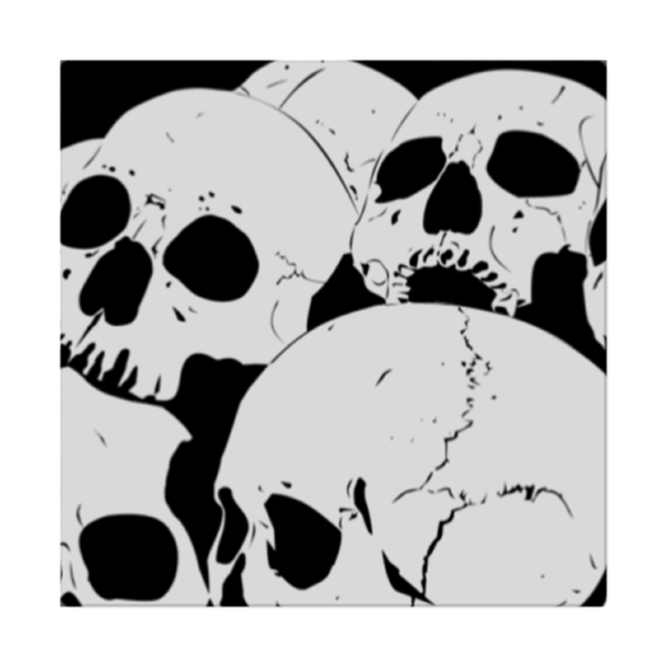 Skulls and scary pumpkin(Cloth Napkins)