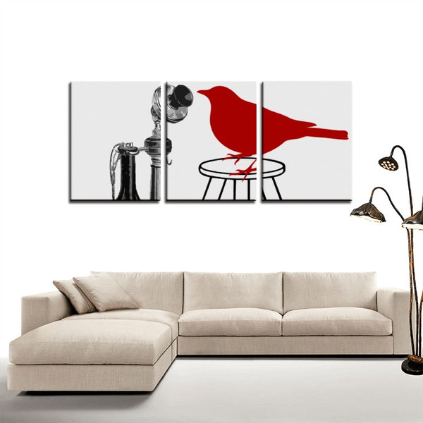 Little Messenger(3 Panels Canvas Print)