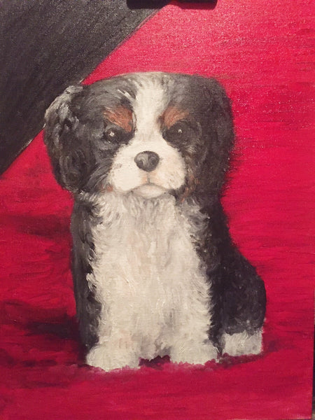 Cutie Puppy(Original Oil Painting) - JenniPaintings-FoundTreasures