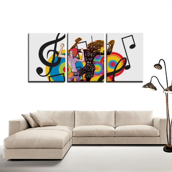 Dance to the Music(3 Panels Canvas Prints) - JenniPaintings-FoundTreasures