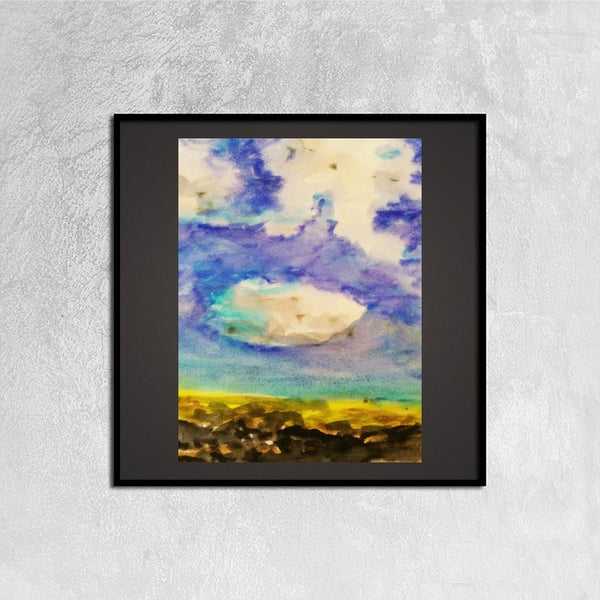 Framed Canvas Prints(Summer Skies) - JenniPaintings-FoundTreasures