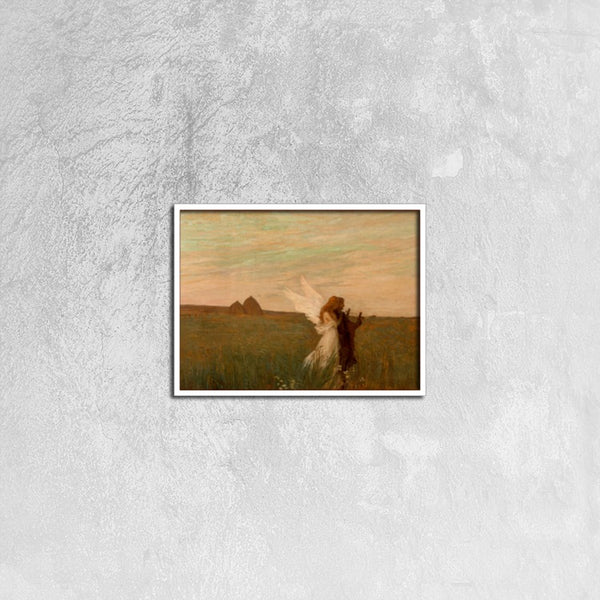 Angel with you(Framed Canvas Print 16ⅹ12 inch) - JenniPaintings-FoundTreasures