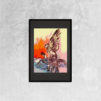 Ancient Creature(Framed Canvas Prints  16ⅹ24 inch) - JenniPaintings-FoundTreasures