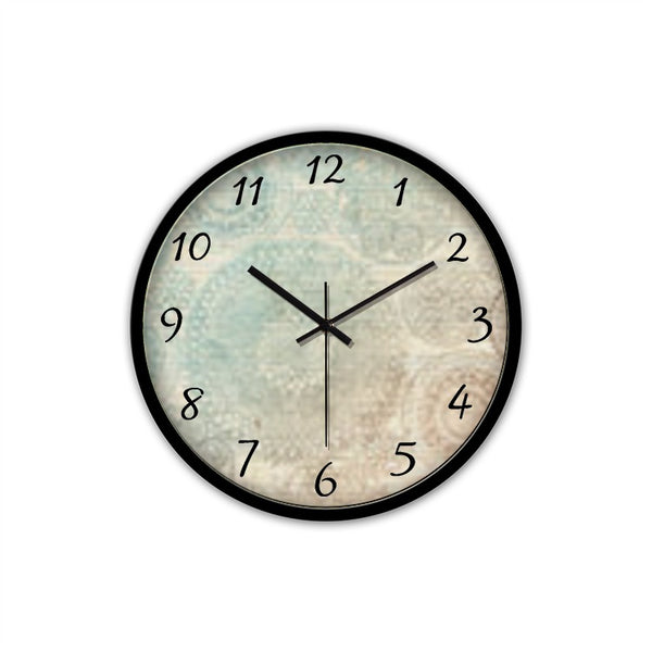 Classic(Non-Ticking Silent Wall Clock  (Black) - JenniPaintings-FoundTreasures