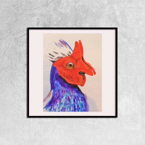 Framed Canvas Prints(Strange Pheasant) - JenniPaintings-FoundTreasures