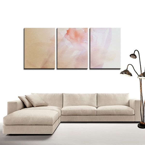 3 Panels Canvas Prints(Soft Flower) - JenniPaintings-FoundTreasures