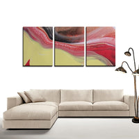 3 Panels Canvas Prints(Elegant Flow) - JenniPaintings-FoundTreasures