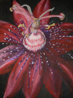 Alien Passion Flower - JenniPaintings(Original Painting)