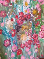 Chaos of Flowers(Original Painting) - JenniPaintings-FoundTreasures