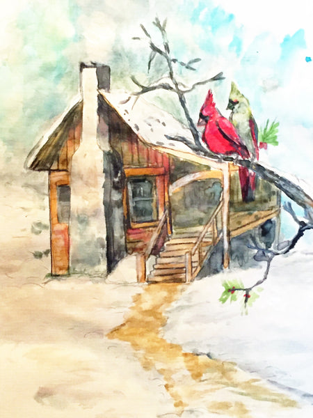 Cabin Retreat (Frame Ready to Hang, 16ⅹ24 inch) - JenniPaintings-FoundTreasures