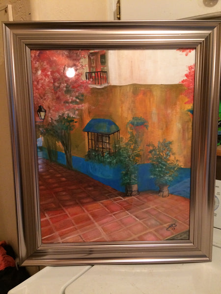 Italy Villa(Original Painting) -JenniPaintings Found Treasures