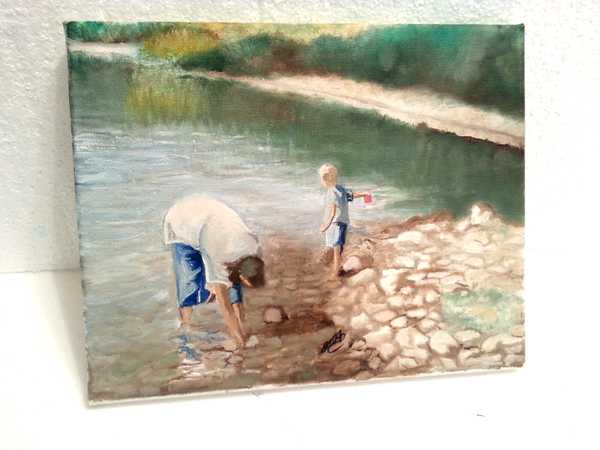 Looking for Crawfish - JenniPaintings