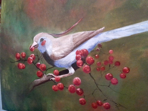A Beautiful Bird(Orignal painting) - JenniPaintings-FoundTreasures