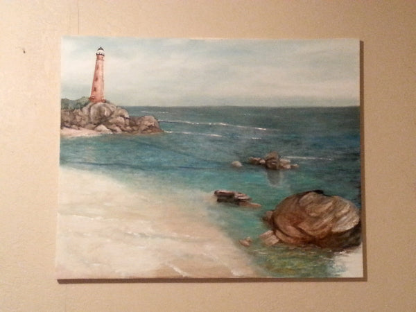 Afternoon Shore(Original Painting) - JenniPaintings-FoundTreasures
