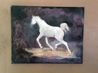 Americus(White Foal)(Original Painting) - JenniPaintings-FoundTreasures