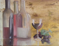 A Noon Party(Original Painting) - JenniPaintings-FoundTreasures