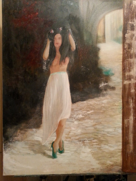 Antionette(Original Painting) - JenniPaintings-FoundTreasures