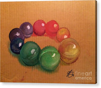 Bath Oils - Acrylic Print - JenniPaintings-FoundTreasures