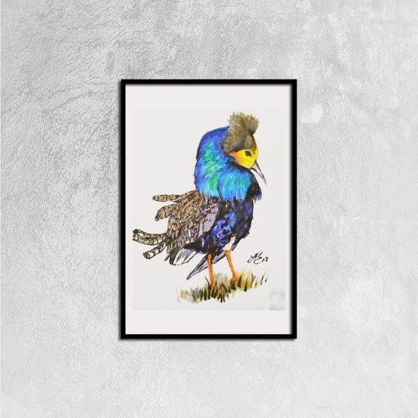 Blue Buff Bird(Framed Canvas Prints, 16ⅹ24 inch) - JenniPaintings-FoundTreasures