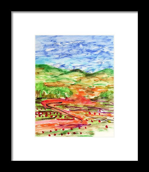 Big Valley - Framed Print - JenniPaintings-FoundTreasures