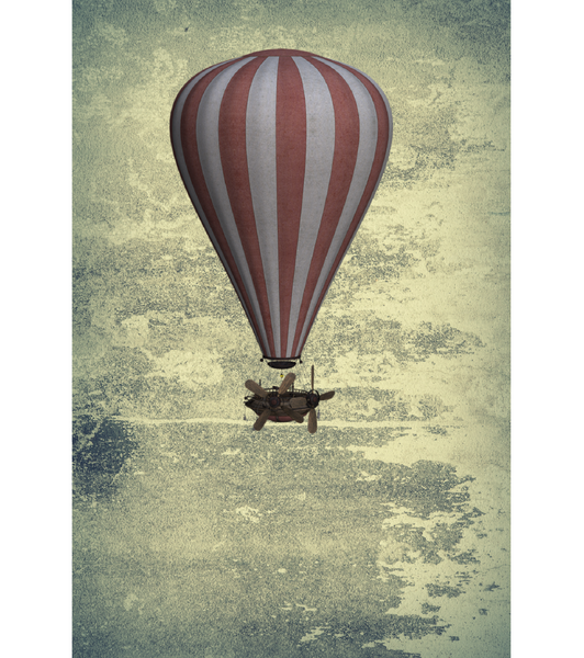 Old Blimp(Canvas Print Frame Ready to Hang, 16ⅹ24 inch) -JenniPaintings Found Treasures