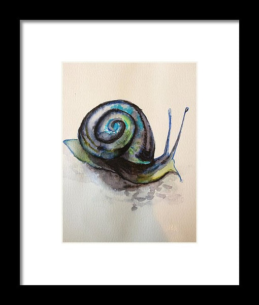 Blue Snail - Framed Print