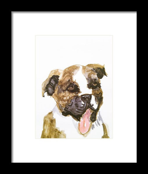 Bulldog - Framed Print - JenniPaintings-FoundTreasures