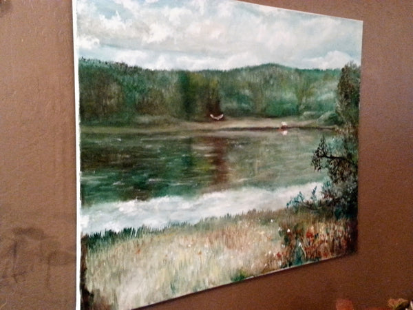 Calm Day at the Lake - JenniPaintings