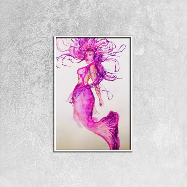 Sea Queen(Framed Canvas Prints, 16ⅹ24 inch) -JenniPaintings Found Treasures