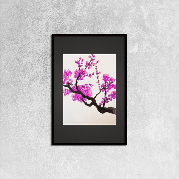 Framed Canvas Prints(Cherry Blossoms) - JenniPaintings-FoundTreasures