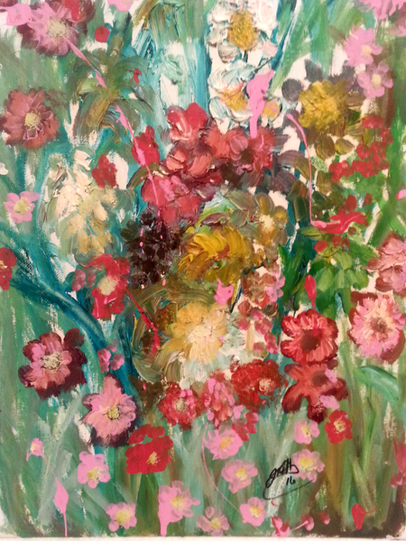 Chaos of Flowers - JenniPaintings