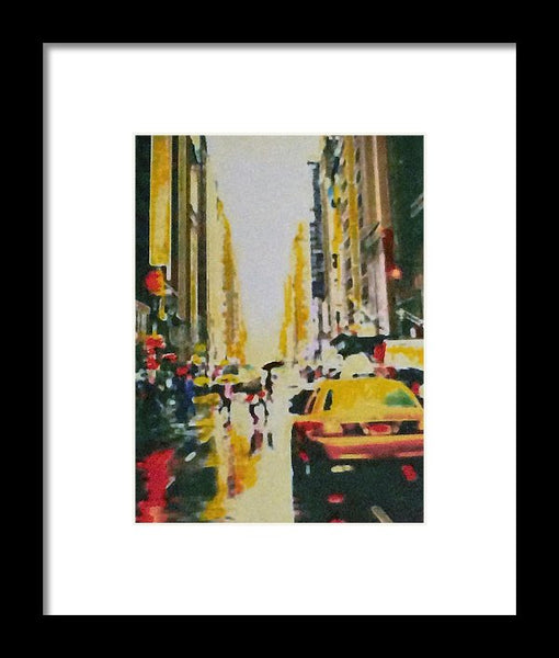 City Afternoon - Framed Print - JenniPaintings