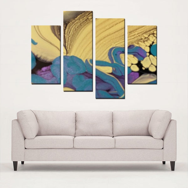 4 Panels Canvas Prints(Sunrise) - JenniPaintings-FoundTreasures