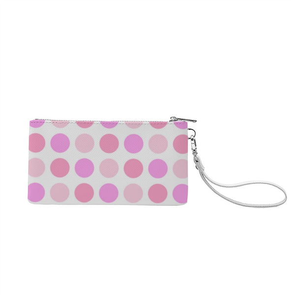 Dots(Genuine Leather Wallet around Long Clutch Purse) - JenniPaintings-FoundTreasures