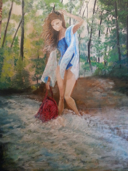 Dipping Her Toes - JenniPaintings