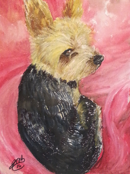 CUTE LITTLE DOG PAINTING