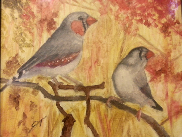 Fancy Finches - JenniPaintings