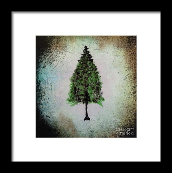 Hemlock Tree - Framed Print -JenniPaintings Found Treasures
