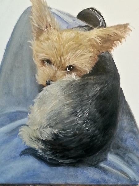 Cute Yorky Painting