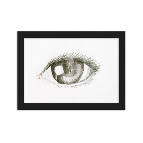 Eye Drawing(Framed matte paper poster) - JenniPaintings-FoundTreasures